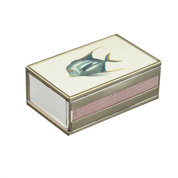 Blue Fish Matchbox cover