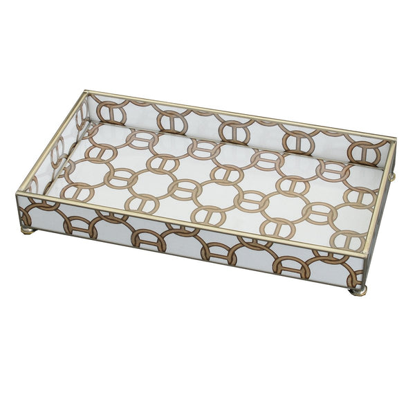 Brown chain 6 x 12 tray