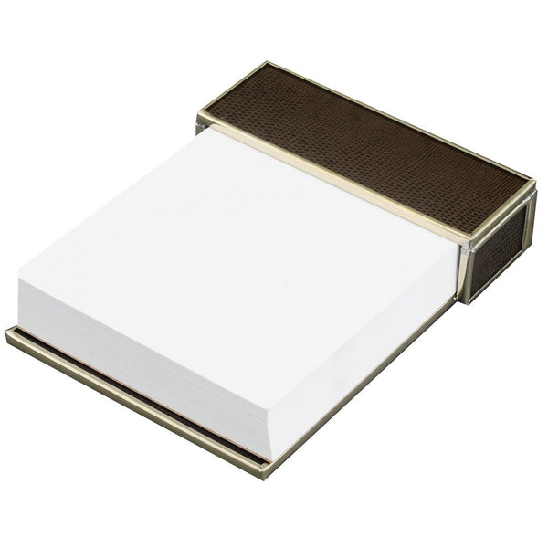 brown lizard skin notepad