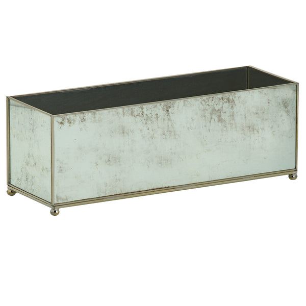 large rectangular antique mirror planter