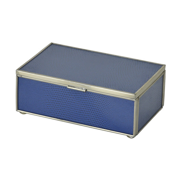 Cobalt Lizard Skin Small Box