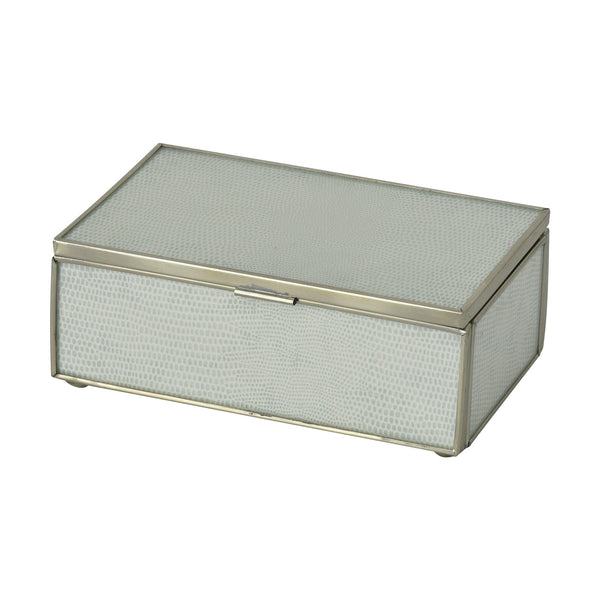 White Lizard Skin Small Box