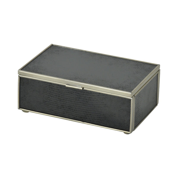 Black lizard Skin Small Box