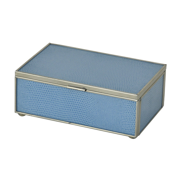 Blue Lizard Skin Small Box