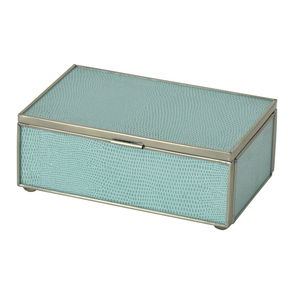 Sea Foam Lizard Skin Small Box