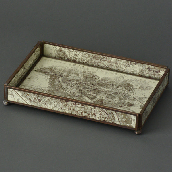 Copperized Rome Map Tray