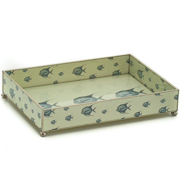 Blue Fish vanity tray