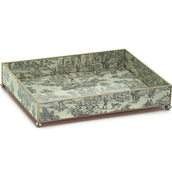 Black Toile vanity tray