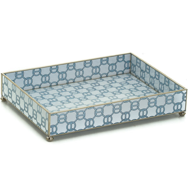 Blue chain vanity tray