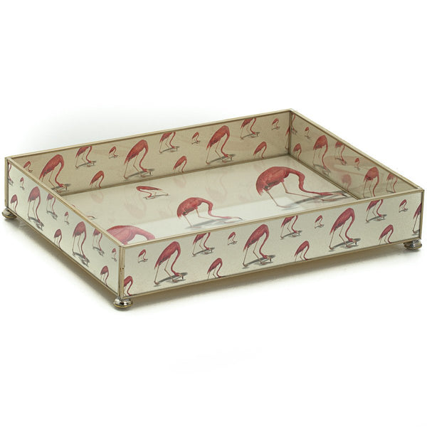 Flamingo vanity tray