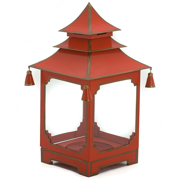 Small candle Pagoda Red and Gold