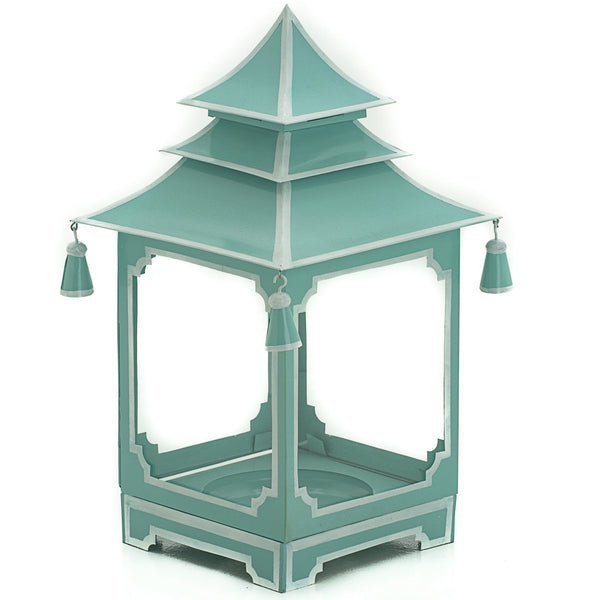 Small candle Pagoda Parisian Blue and White