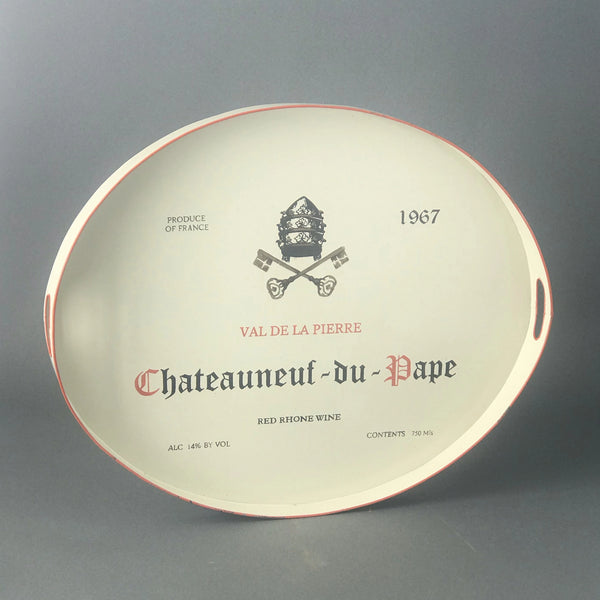Scratch and Ding Chateauneuf-du-pape Tole Tray