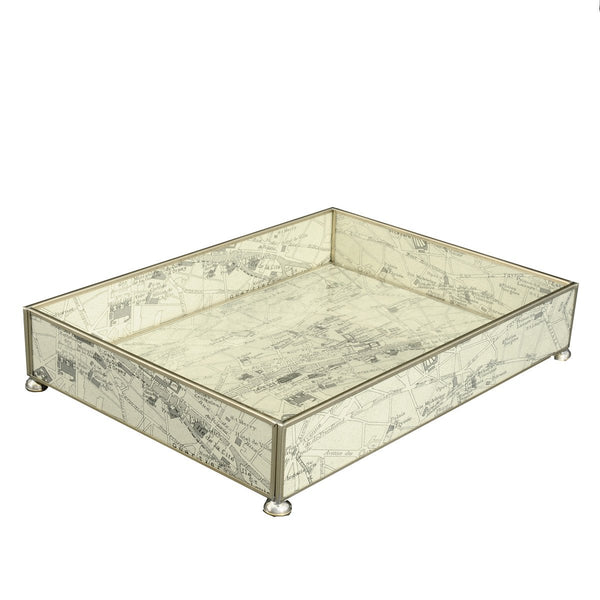 Paris Map vanity tray