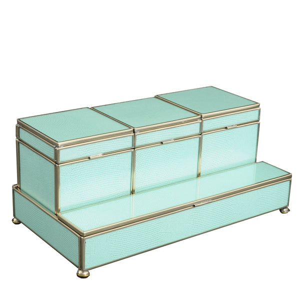 Sea Foam Three box vanity set