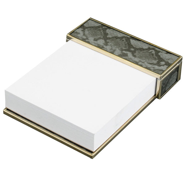 silver python skin notepad