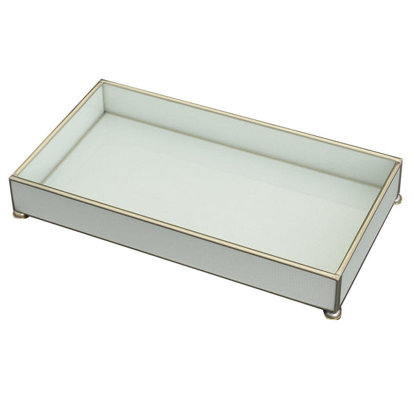 white lizard skin 6 x 12 tray