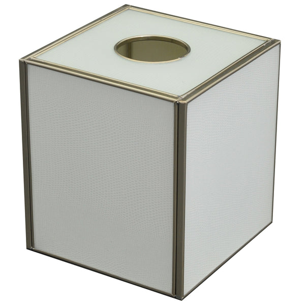 white lizard skin tissue box