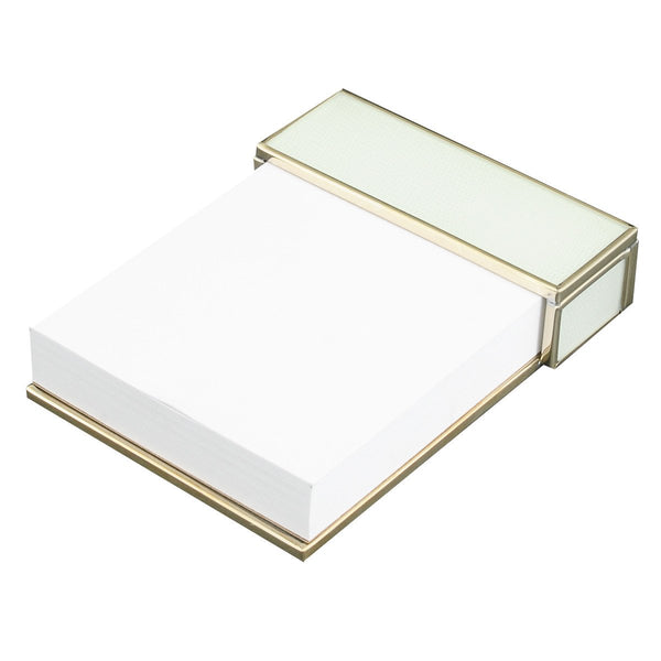 white lizard skin notepad
