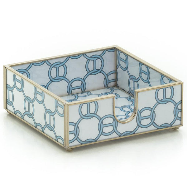 Blue Chain Cocktail Napkin Holder