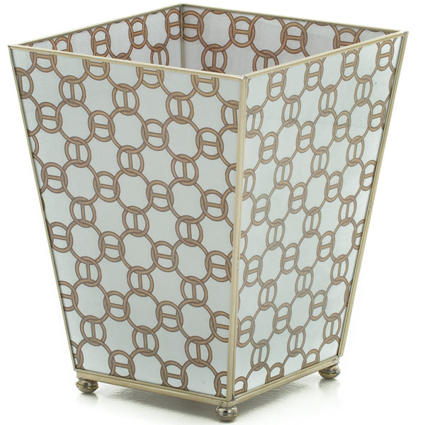Brown chain waste bin