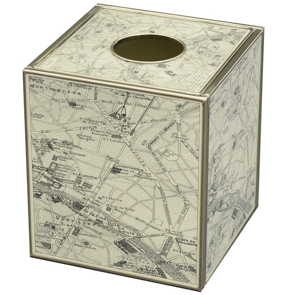 Paris Map tissue box