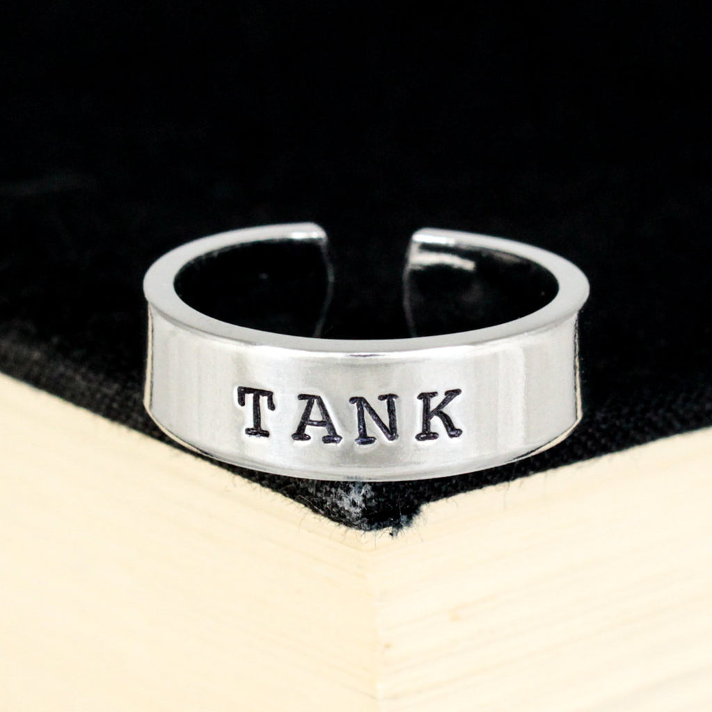 Tank Ring - Gamer Roles - Healer- Adjustable Aluminum Ring