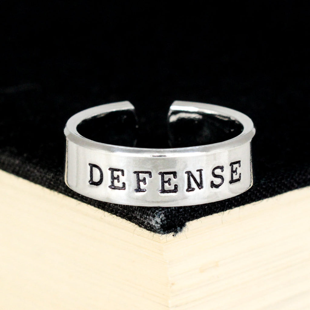 Defense Ring - Gamer Roles - Healer- Adjustable Aluminum Ring - It Came From the Internet