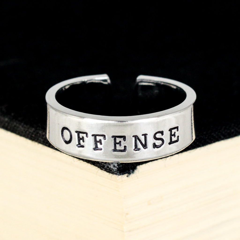 Offense Ring - Gamer Roles - Healer- Adjustable Aluminum Ring - It Came From the Internet