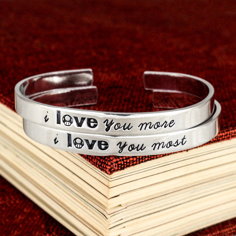 I Love You More I Love You Most - 1UP Mushroom - Video Game Bracelet Set - It Came From the Internet
