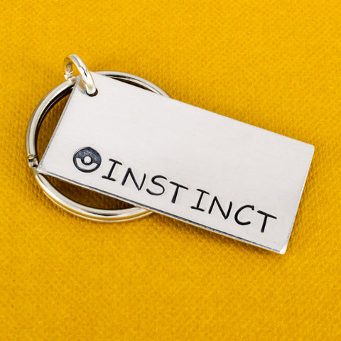 Team Instinct Keychain - Pokeball - Video Games - Aluminum Key Chain