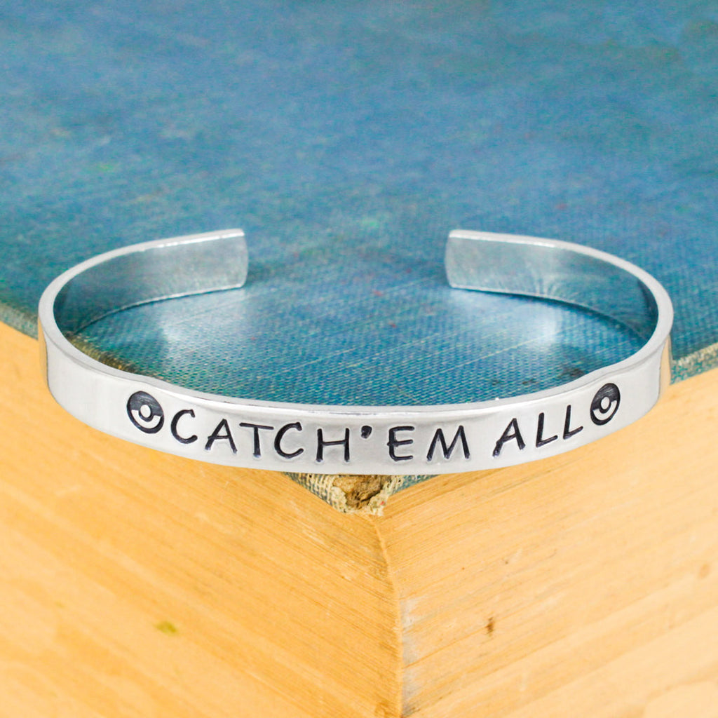 Catch'em All Bracelet - Pokeball - Video Games - Aluminum Bracelet - It Came From the Internet