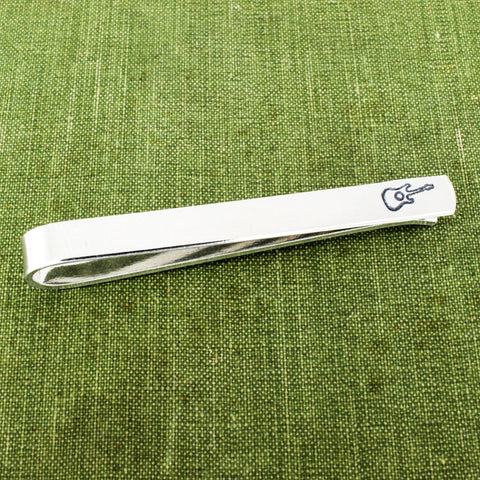 Guitar Tie Bar - Gift for Musician - Gifts for Him - Men's Accessories - Aluminum Tie Clip - It Came From the Internet