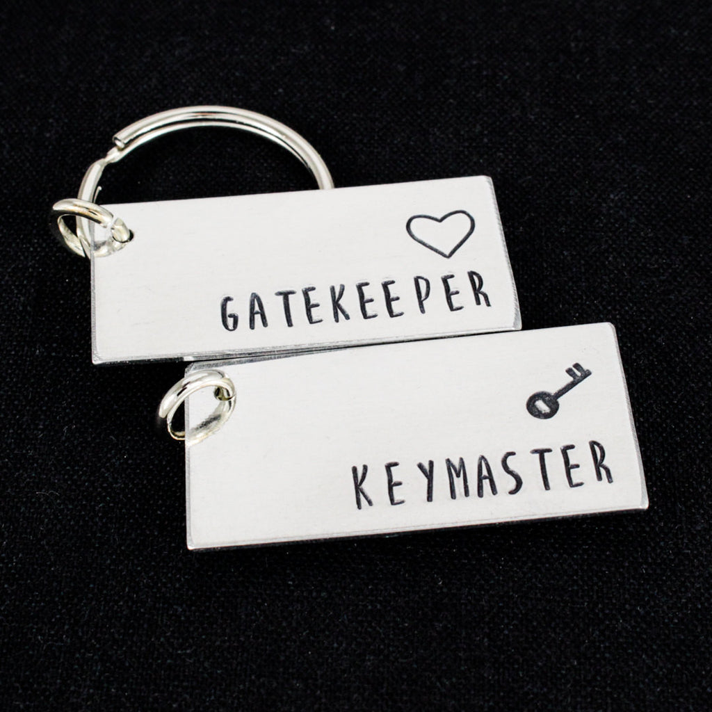Gatekeeper and Keymaster Keychain Set - Ghostbusters Couples Accessories - Aluminum Key Chains - It Came From the Internet