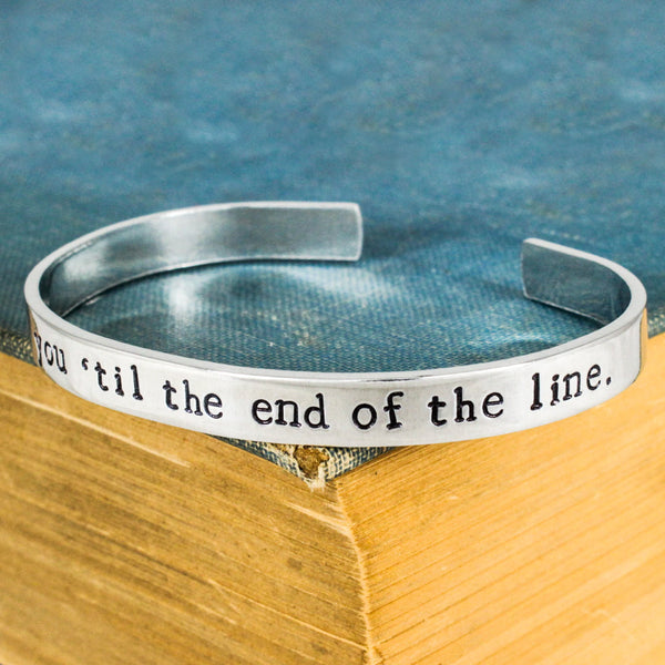 I'm With You 'til the End of the Line - Superheroes - Comic Books - Aluminum Bracelet - It Came From the Internet