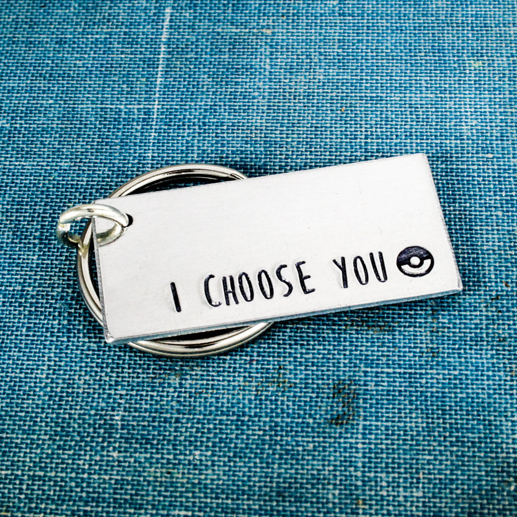 I Choose You - Pokeball - Nerdy Couples - Aluminum Key Chain - It Came From the Internet