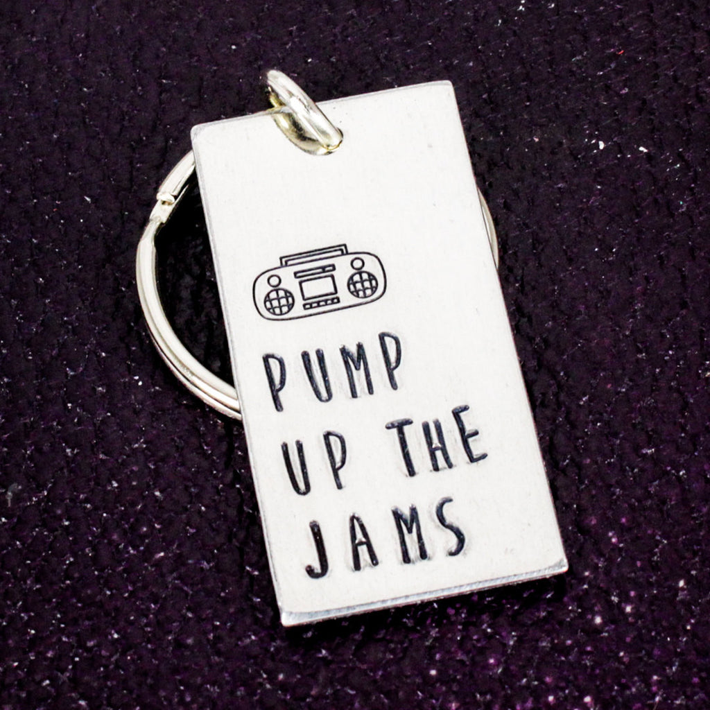 Pump Up the Jams - Dancer - 90s Nerd - Aluminum Key Chain - It Came From the Internet
