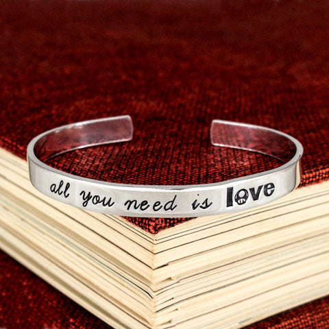 All You Need is Love - 1UP Mushroom - NES - Video Games - Aluminum Bracelet - It Came From the Internet