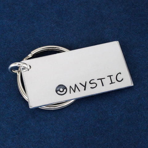 Team Mystic Keychain - Pokeball - Video Games - Aluminum Key Chain