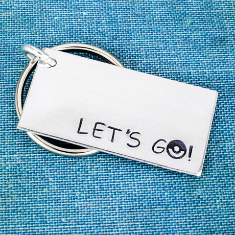Let's Go! - Pokeball - Video Games - Aluminum Key Chain - It Came From the Internet