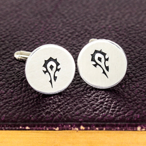 Horde Cuff Links - Video Game Gift - Warcraft - Aluminum Cuff Links - It Came From the Internet