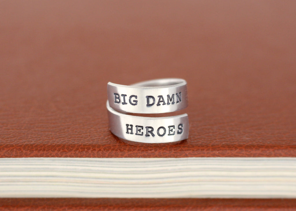 Big Damn Heroes - Firefly - Adjustable Aluminum Wrap Ring - It Came From the Internet