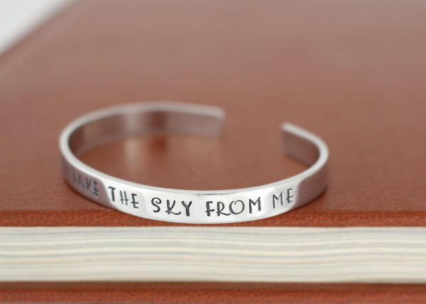 You Can't Take the Sky From Me - Firefly - Adjustable Aluminum Bracelet