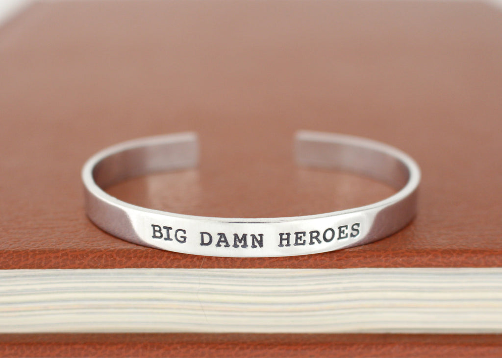 Big Damn Heroes - Firefly - Adjustable Aluminum Bracelet - It Came From the Internet
