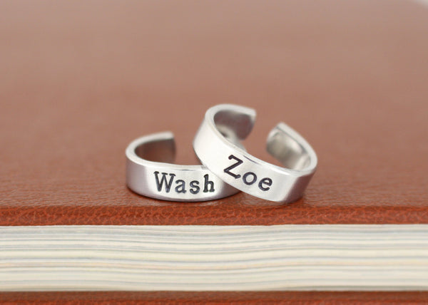 Wash and Zoe - Firefly - Adjustable Aluminum Rings