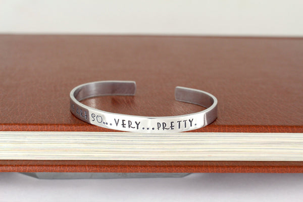 We Are So Very Pretty - Firefly - Adjustable Aluminum Bracelet