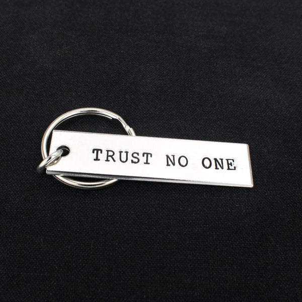 Trust No One - X Files - Aluminum Key Chain – It Came From ...