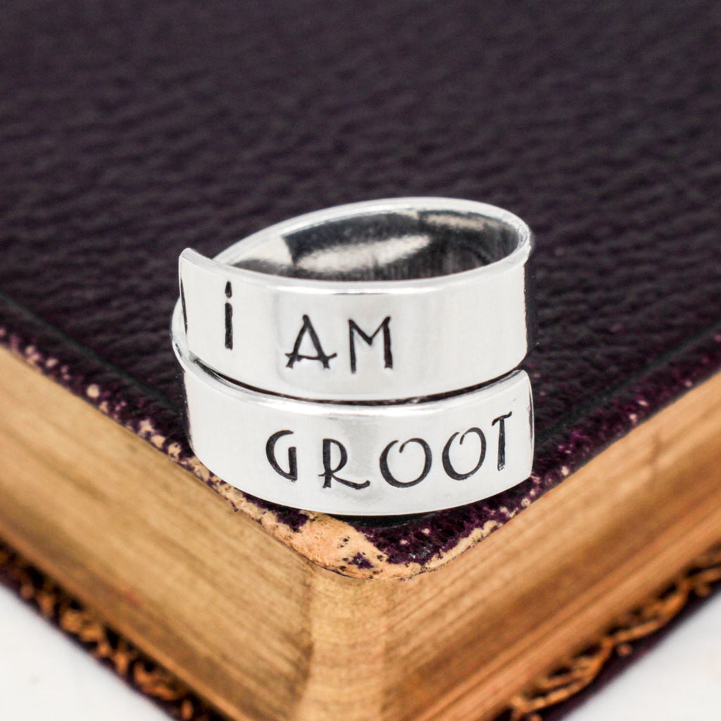I Am Groot Ring - Guardians of the Galaxy - Adjustable Aluminum Wrap Ring - It Came From the Internet