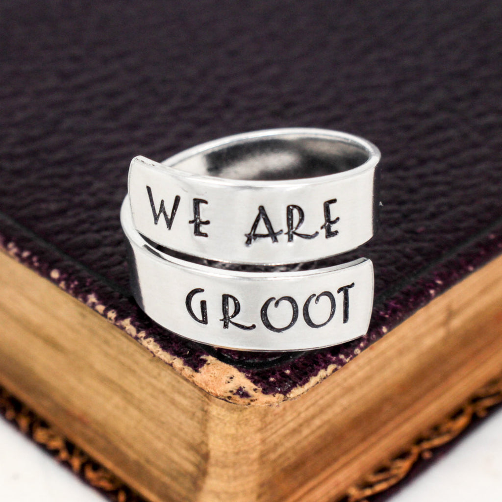 We Are Groot Ring - Guardians of the Galaxy - Adjustable Aluminum Wrap Ring