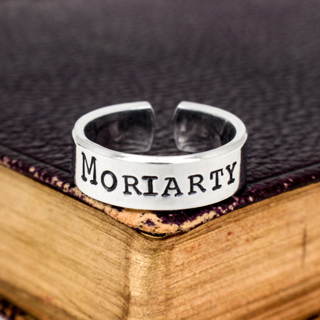 Moriarty - Sherlock - Adjustable Aluminum Cuff Ring - It Came From the Internet